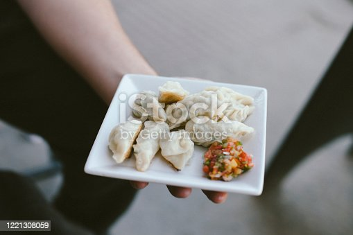 istock Traditional Nepalese Food - Momo dumplings 1221308059