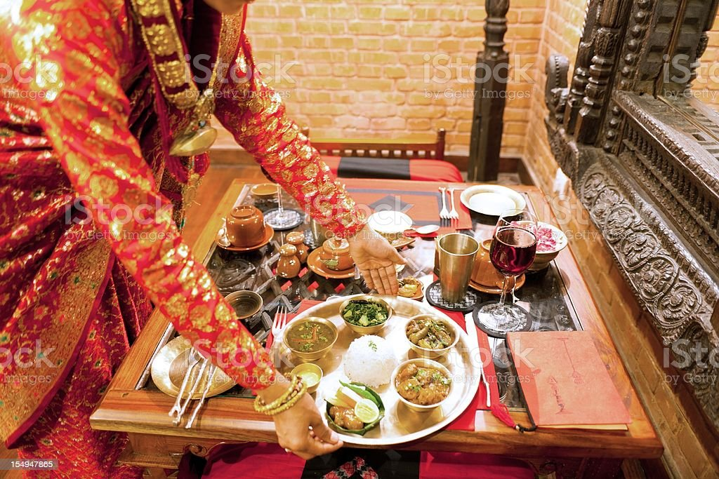 Traditional Nepali Restaurant royalty-free stock photo