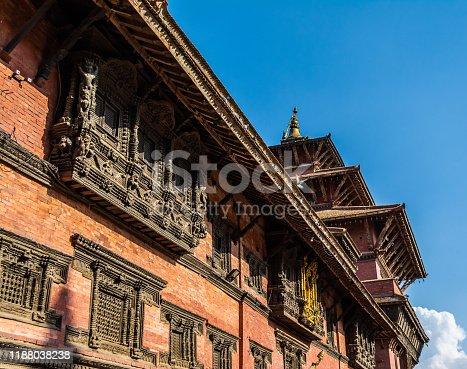 Traditional Nepali Roof, Khatmandu, Nepal