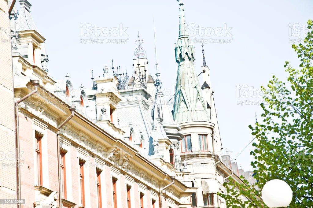 Traditional Nordic Building, Stockholm City Square, Sweden - Foto stock royalty-free di Albergo di lusso