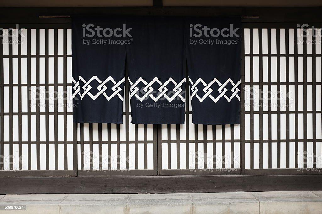 日本の伝統的なノレン ストックフォト