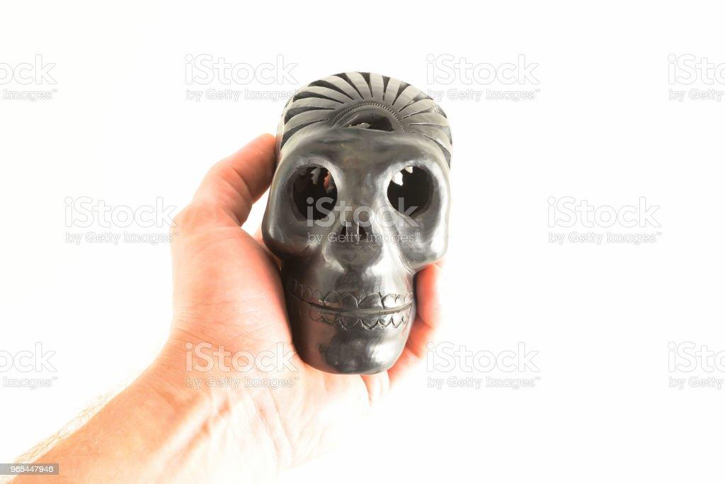 Traditional Oaxaca black Skull zbiór zdjęć royalty-free