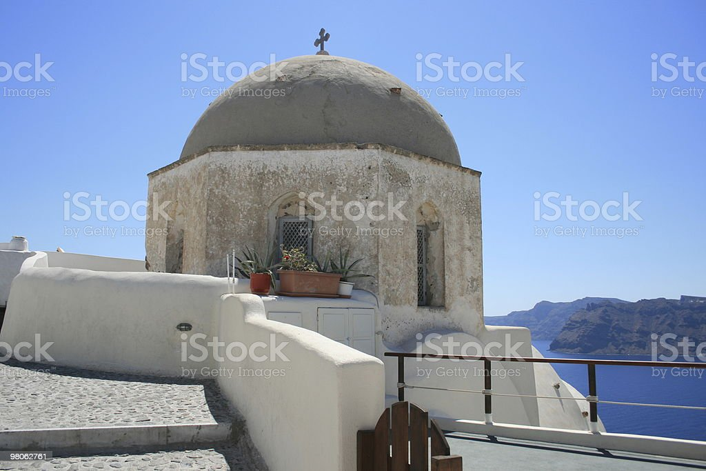 Traditional Oia Church on Santorini royalty-free stock photo