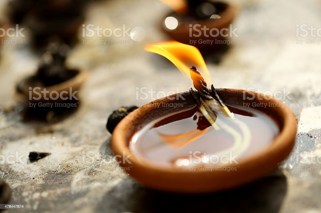 Traditional oil lamps stock photo