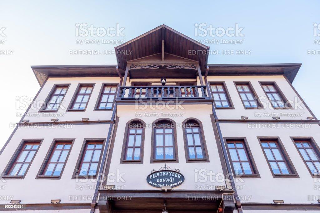 Traditional, old and historical Anatolia houses in Mudurnu zbiór zdjęć royalty-free