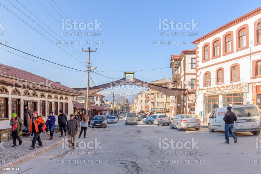 Traditional, old and historical Anatolia houses in Mudurnu royalty-free stock photo