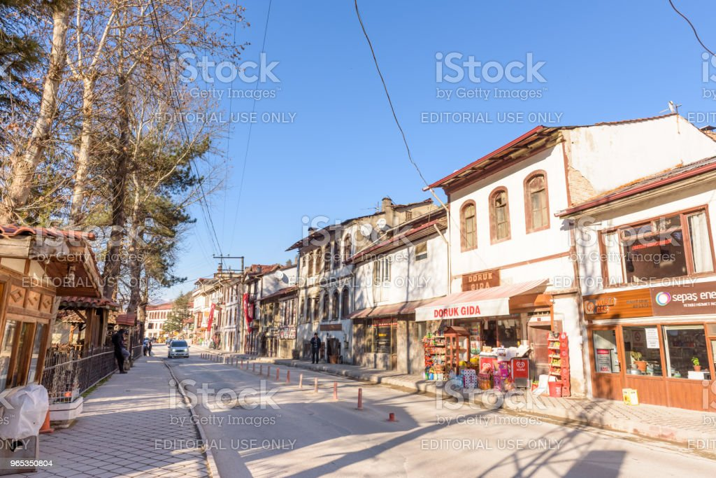 Traditional, old and historical Anatolia houses in Mudurnu zbiór zdjęć royalty-free