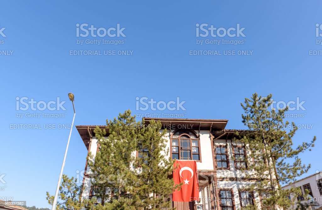 Traditional, old and historical Anatolia houses in Tarakli royalty-free stock photo