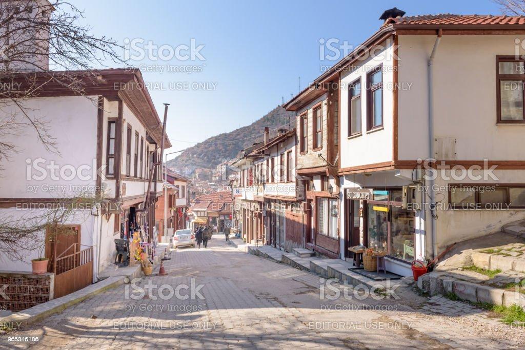 Traditional, old and historical Anatolia houses in Tarakli royalty-free stock photo
