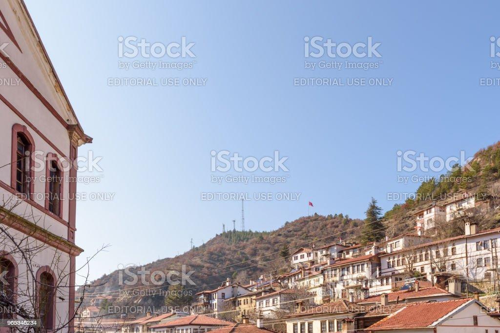 Maisons d'Anatolie traditionnels, anciens et historiques en Tarakli - Photo de Anatolie - Turquie libre de droits