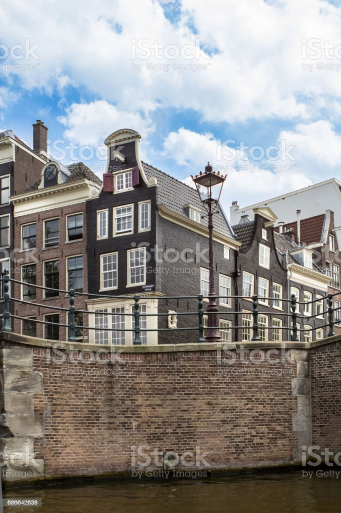 Traditional old buildings in Amsterdam photo libre de droits