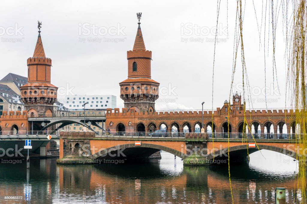 Traditional old buildings in Berlin stock photo