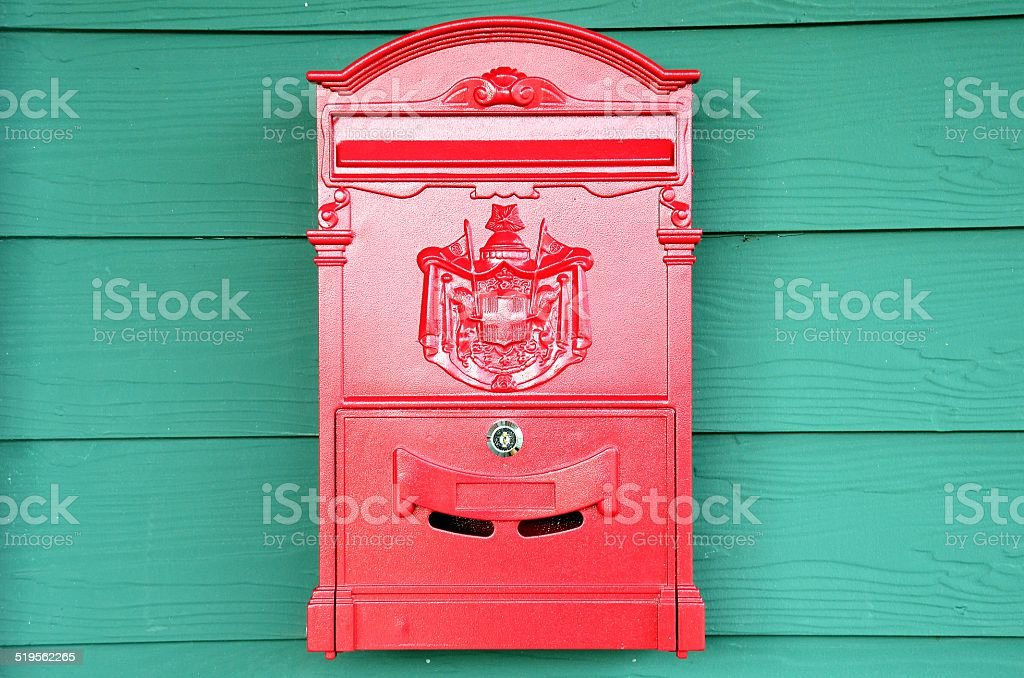 traditional old English red postbox stock photo