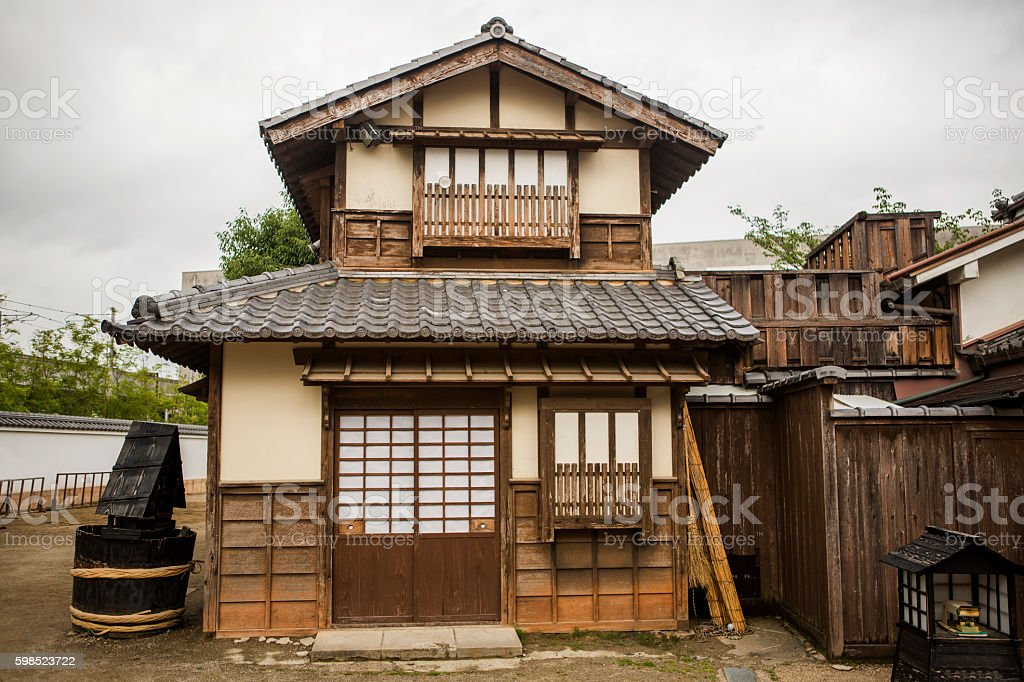 Traditional old japanese house in toei studios kyoto japan – Foto