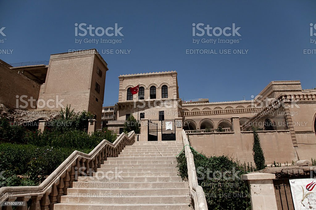 traditional old stone buildings of mardin museum in turkey stock photo