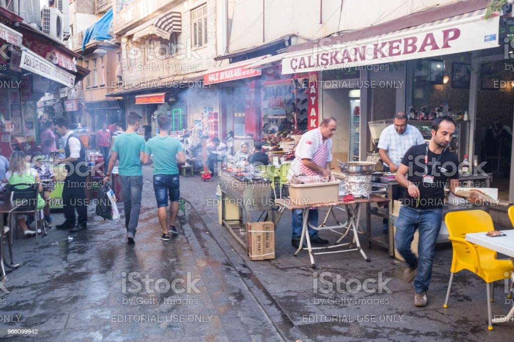Traditional old stone streets of Gaziantep city,Turkey - Royalty-free Anatolia Stock Photo
