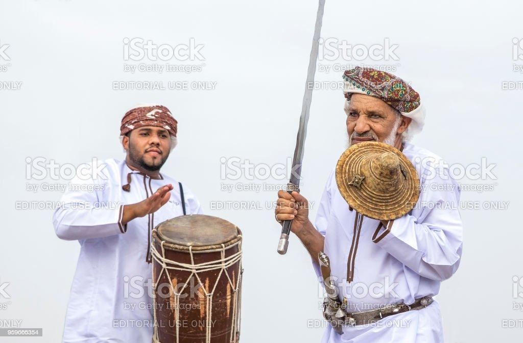 traditional omani singing stock photo