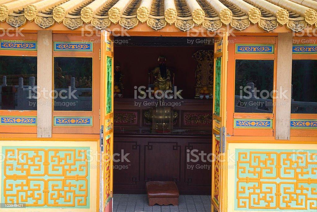 traditional oriental door royalty-free stock photo