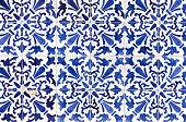 Traditional ornate portuguese decorative tiles azulejos
