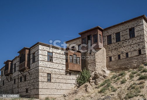 istock Traditional Ottoman Houses with Stone Walls 941096880