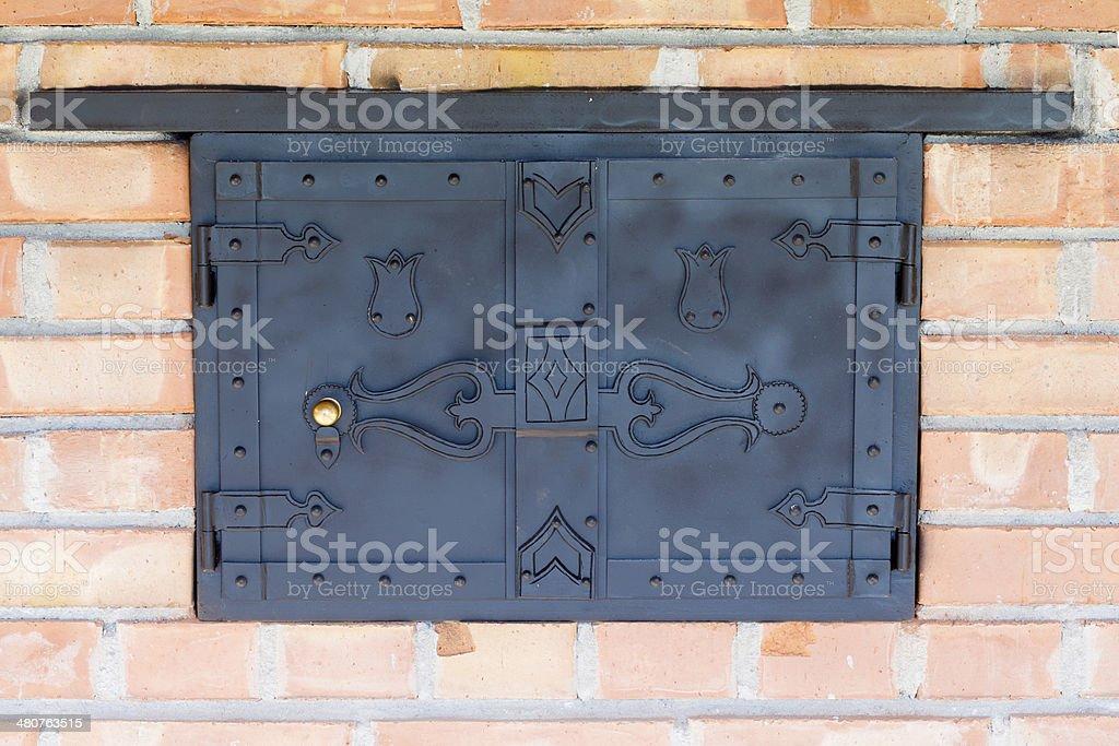 Traditional Oven Door stock photo
