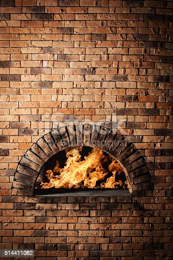 Traditional oven for cooking and baking pizza.