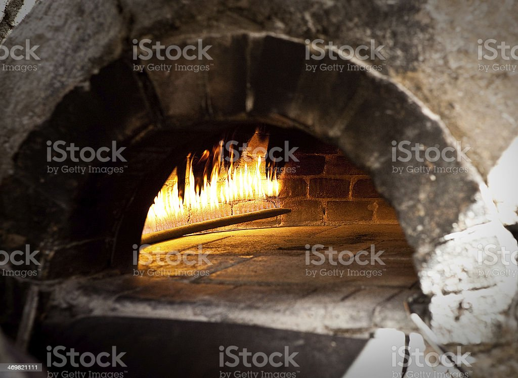 Traditional oven for cooking. stock photo
