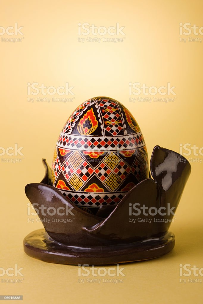Traditional painted Easter egg royalty-free stock photo