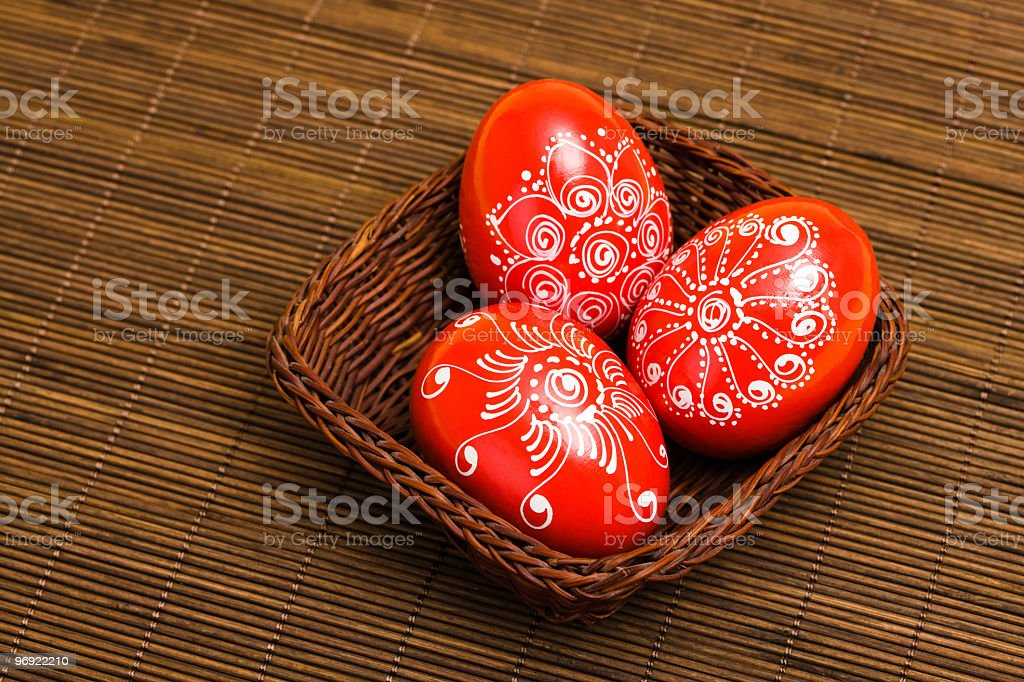 Traditional painted  Easter eggs royalty-free stock photo