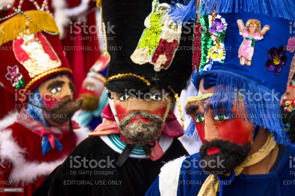 Traditional parade in Mexico stock photo