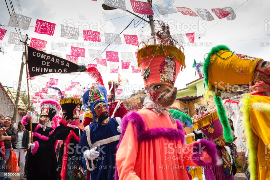 Traditional parade of Chinelos stock photo