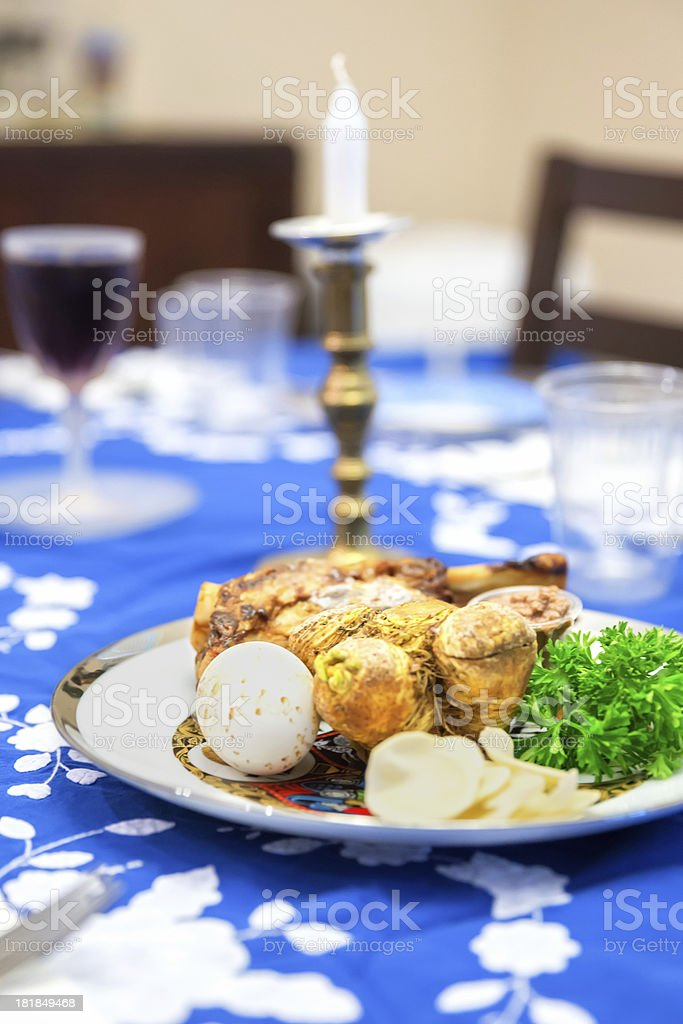 Traditional Passover Seder Table royalty-free stock photo