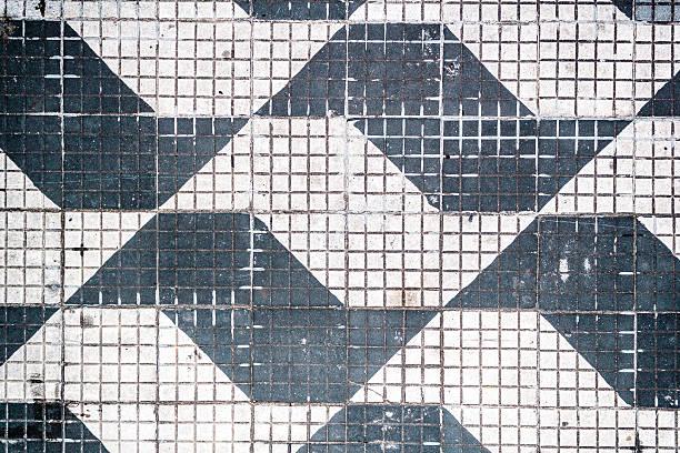 traditional pattern of sao paulo streets in brazil - são paulo - fotografias e filmes do acervo