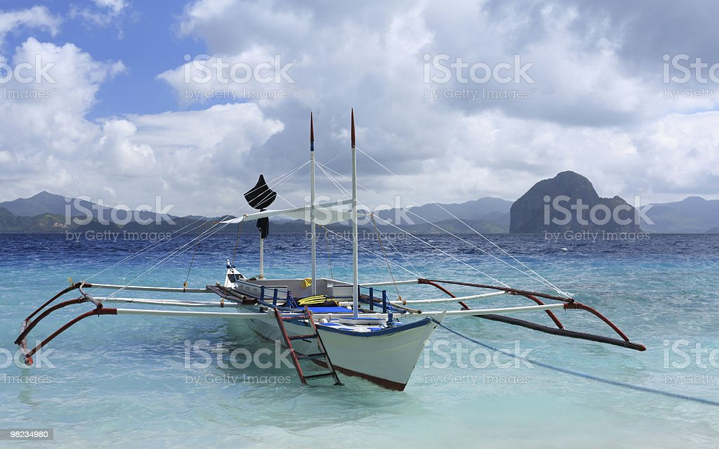 Traditional Philippines boat royalty-free stock photo
