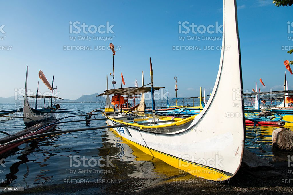 Traditional Philippines boats stock photo