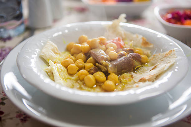 Traditionelle Piti Essen mit chikpea im Kars Türkei – Foto