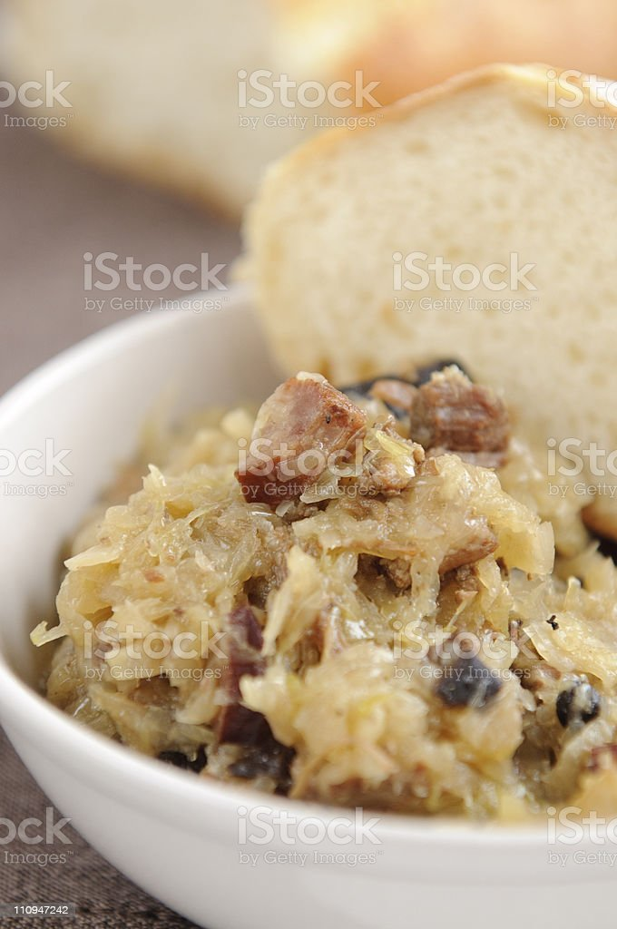 Traditional Polish Bigos royalty-free stock photo