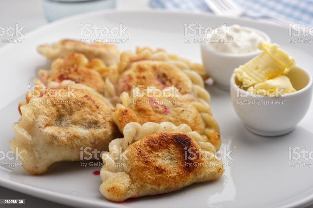 Traditional Polish dumplings Pierogi ruskie photo libre de droits