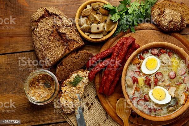 Traditional Polish Easter Soup Zurek Stockfoto en meer beelden van 2015