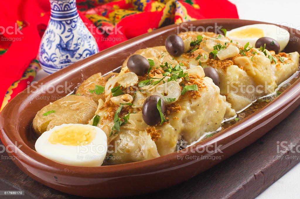 Tradicional de bacalao portugués - foto de stock