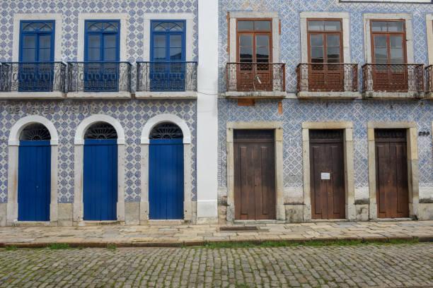Traditionelle portugiesische Kolonialarchitektur in Sao Luis, Brasilien – Foto