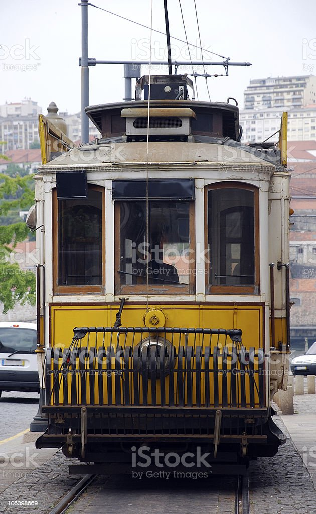 Traditional portuguese tram(Portugal) royalty-free stock photo