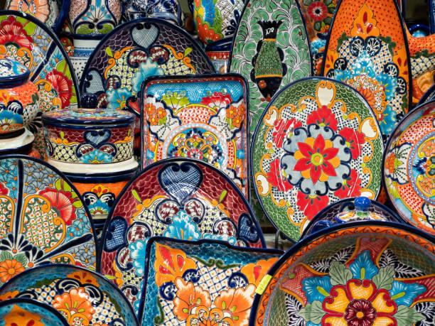 Traditionelle Töpferei Street Market und Souvenir-Shop, San Miguel de Allende, Mexiko – Foto