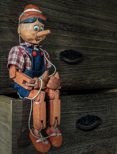 Traditional puppets made of wood in vintage style Traditional puppets made of wood..These items are a collection of my own. ventriloquist's dummy stock pictures, royalty-free photos & images