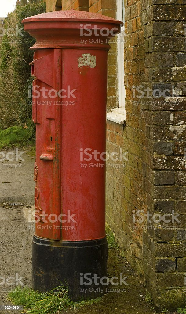 Traditional Red British Postbox  British Culture Stock Photo