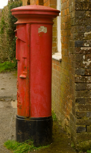 Traditional Red British Postbox Stock Photo - Download Image Now