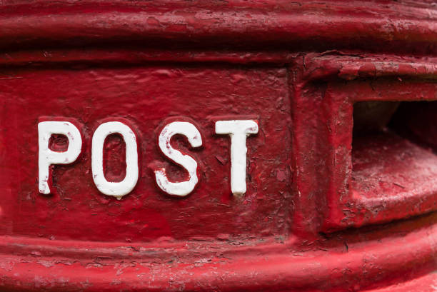 Traditional red british Royal Mail Post Box – Foto