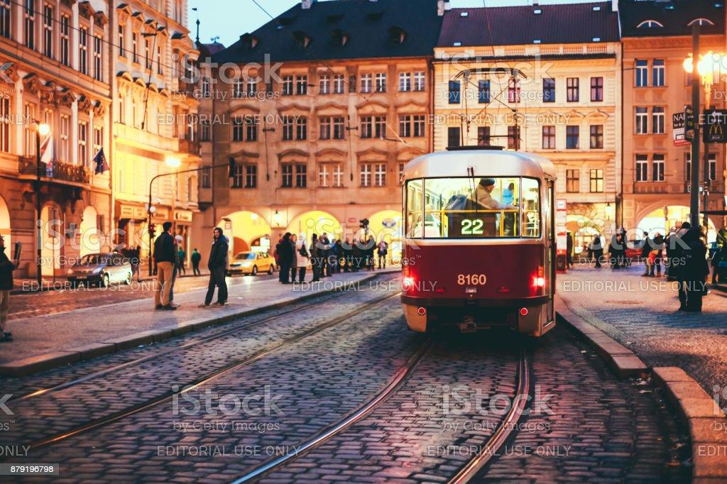 old tram prague street - photo #13