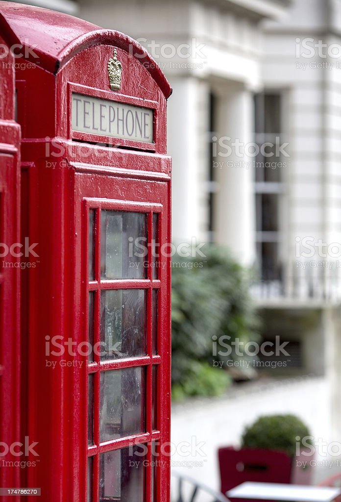Traditional red London phonebooth stock photo