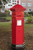 Traditional Red UK post box